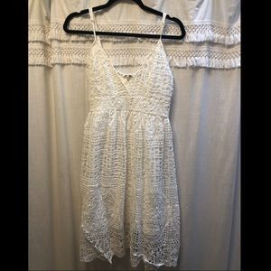 Charlotte Russe white crochet lace dress